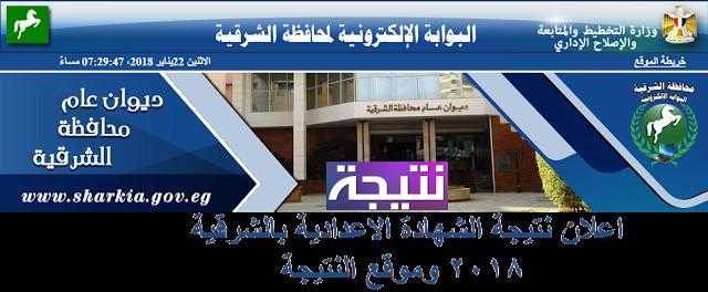 اعلان نتيجة الشهادة الاعدادية محافظة الشرقية 2018 موقع النتيجة Pandora
