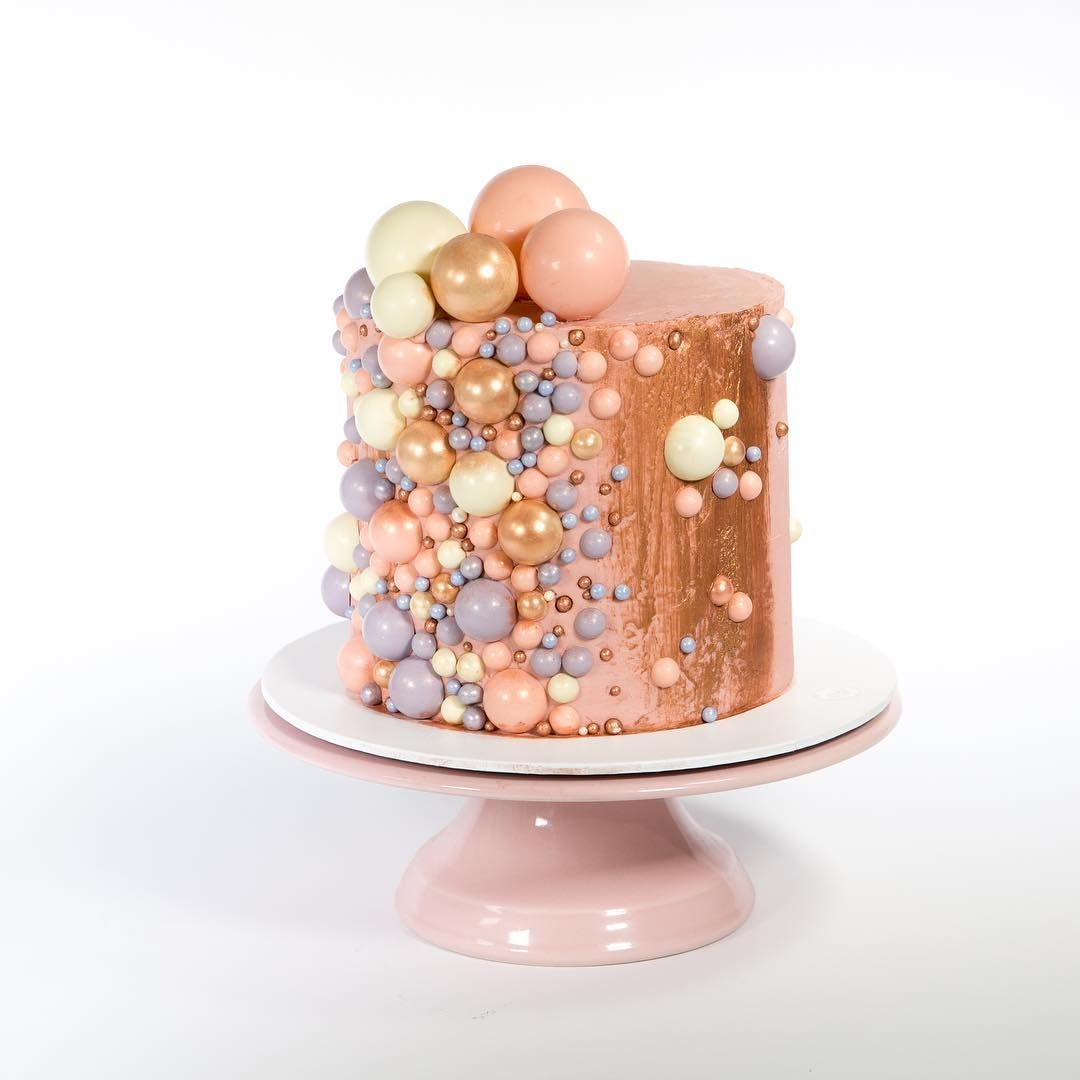 Pink And Rose Gold Pearl Birthday Cake 60th Birthday Cakes Gold