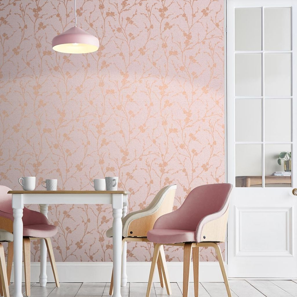 Graham & Brown Meiying Blush Wallpaper Blush wallpaper
