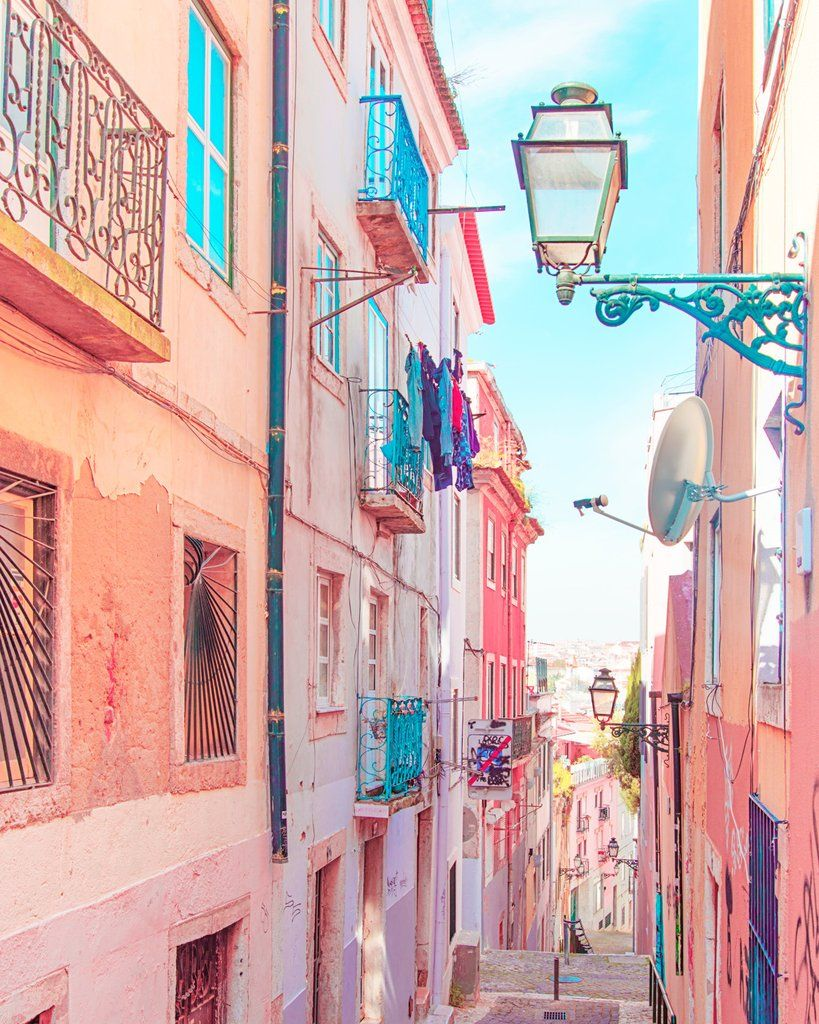 Lisbon Alley In 2019 Travel Wallpaper Iphone Wallpaper