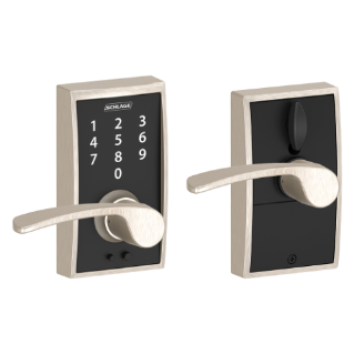 schlage touch keyless touchscreen lever with century trim and