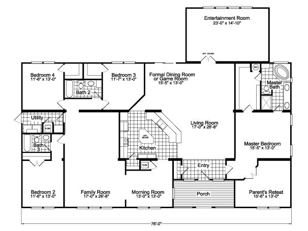 Floor Plan The Gotham Flex Scyd76f8 Mobile Home Floor Plans Modular Home Floor Plans Manufactured Homes Floor Plans