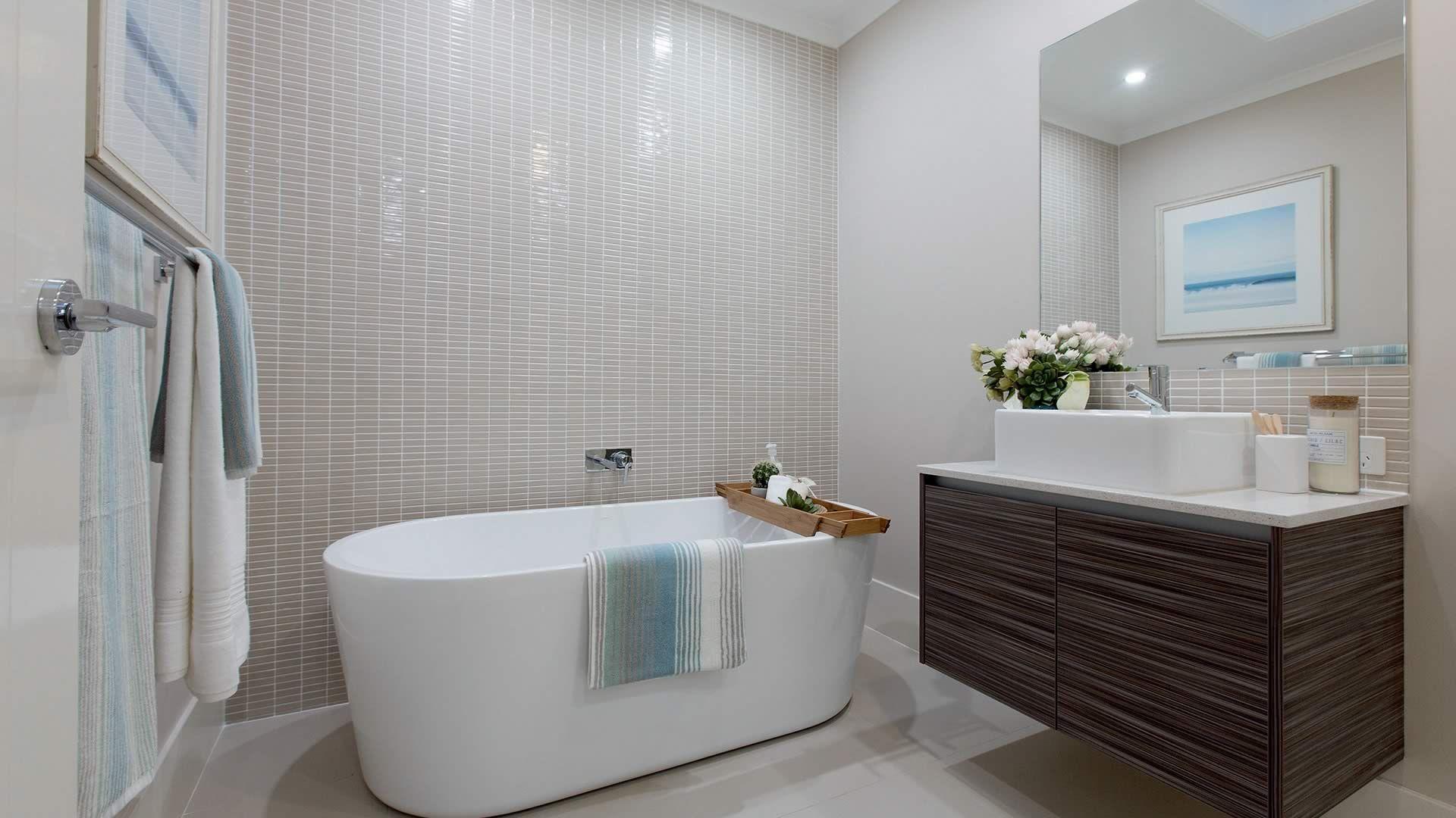 The #Caroma Aura Freestanding bath sitting pretty in the London 22 ...