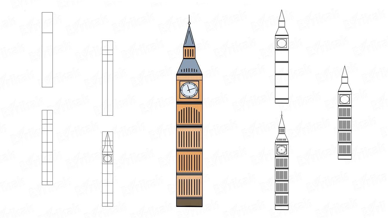 Jak krok po kroku rysować Big Ben Inspiration