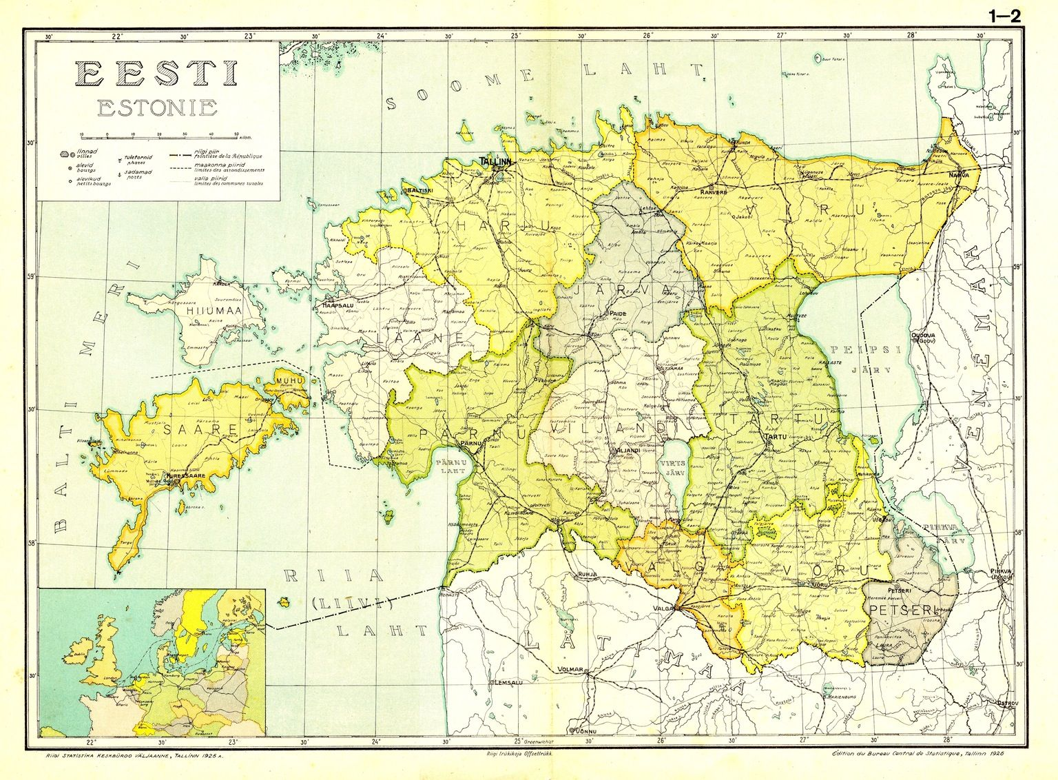 Estonia In 1925 Historical Maps Estonia Map
