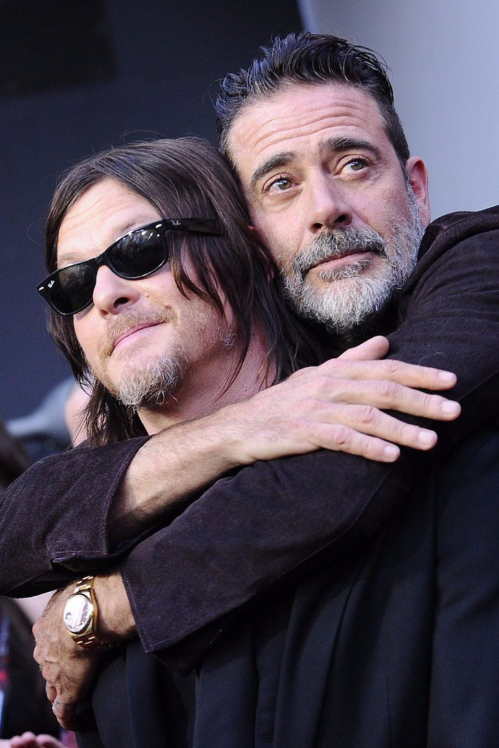 Jeffrey Dean Morgan and Norman Reedus Have a Nice Little Cuddle