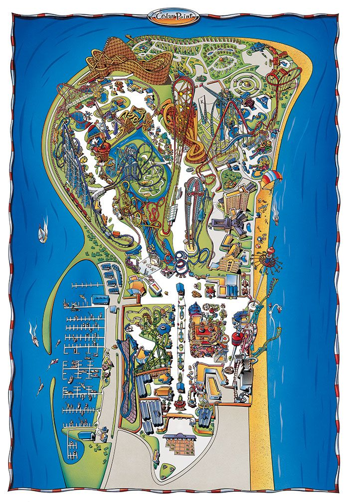 Can t Wait Park Map of Cedar Point Cedar Point