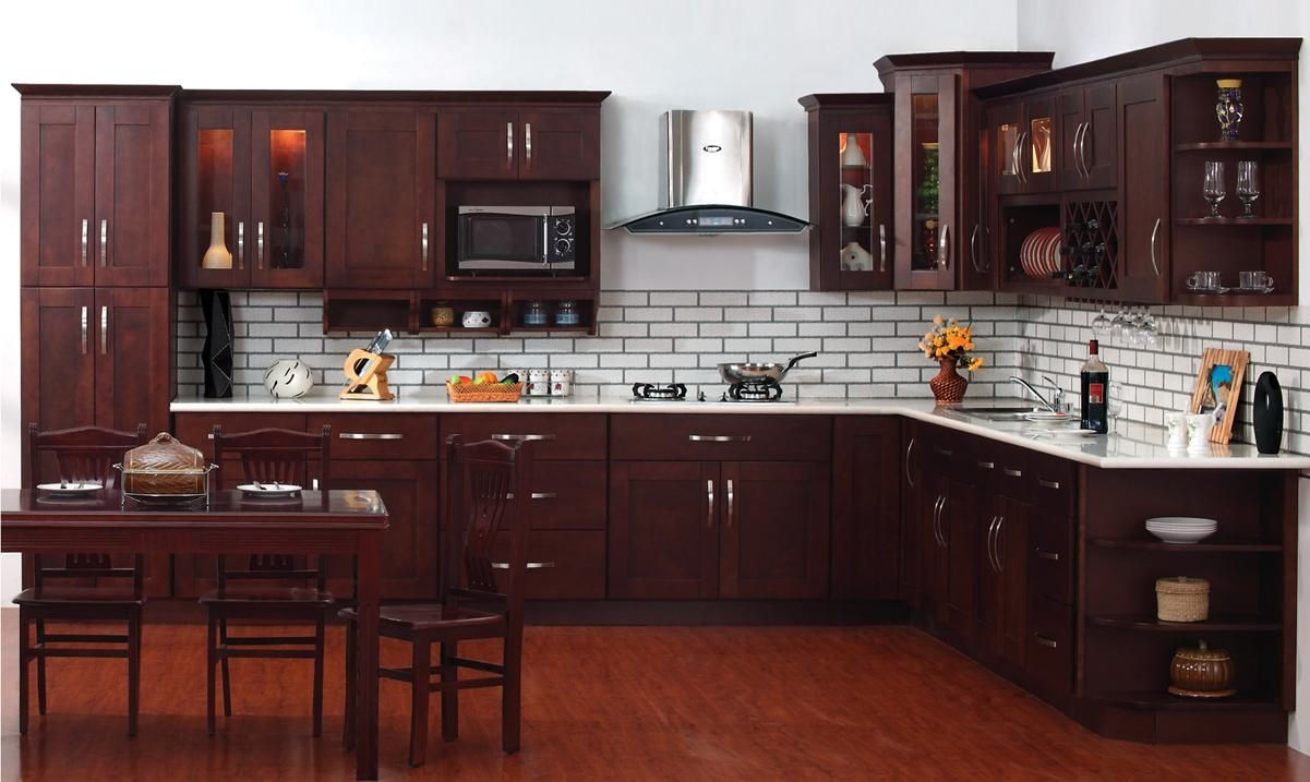 10x10 kitchen cabinets - The Espresso Shaker Cabinets Just Amazing