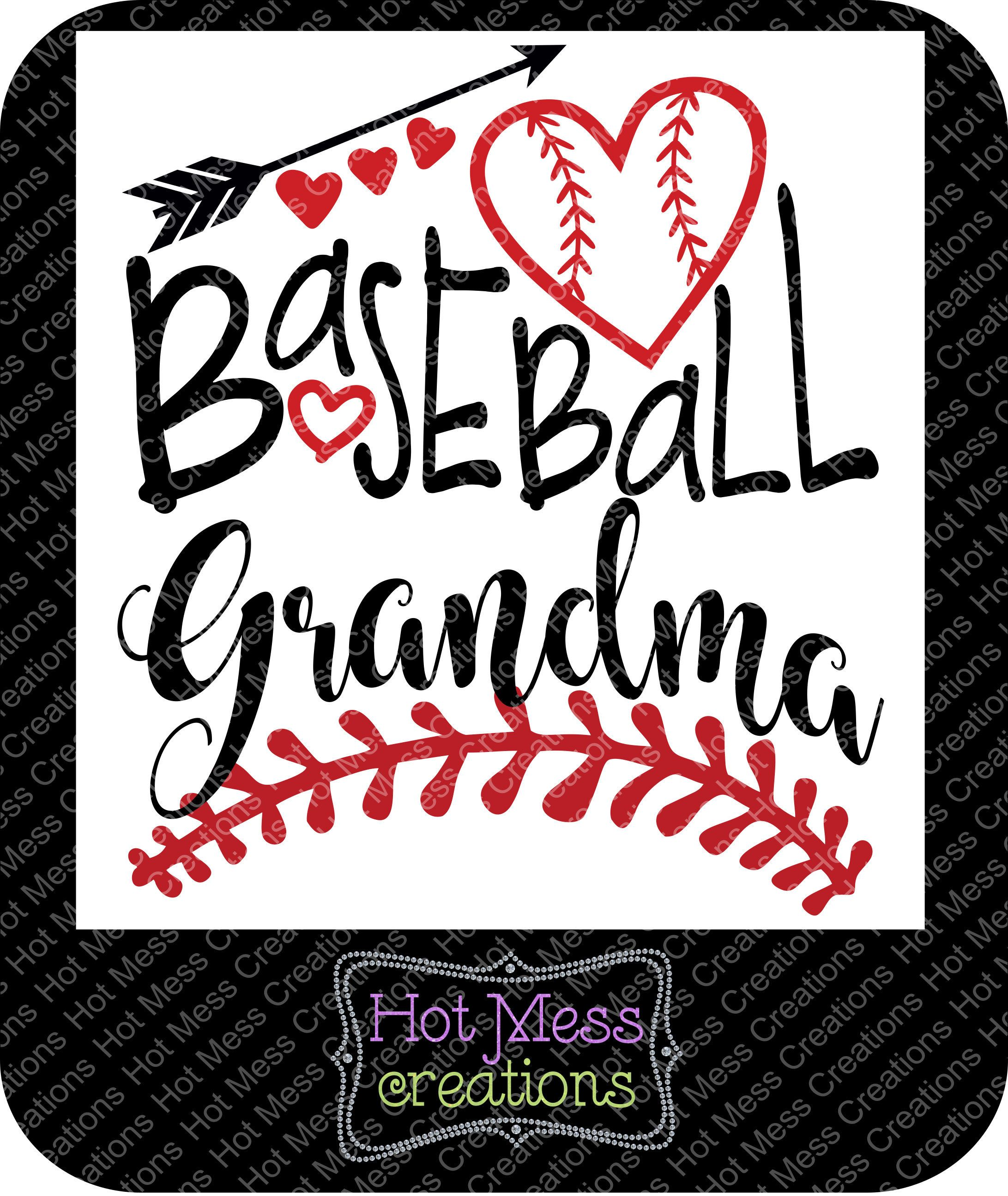 Baseball SVG DXF PNG Baseball Grandma Digital Download File