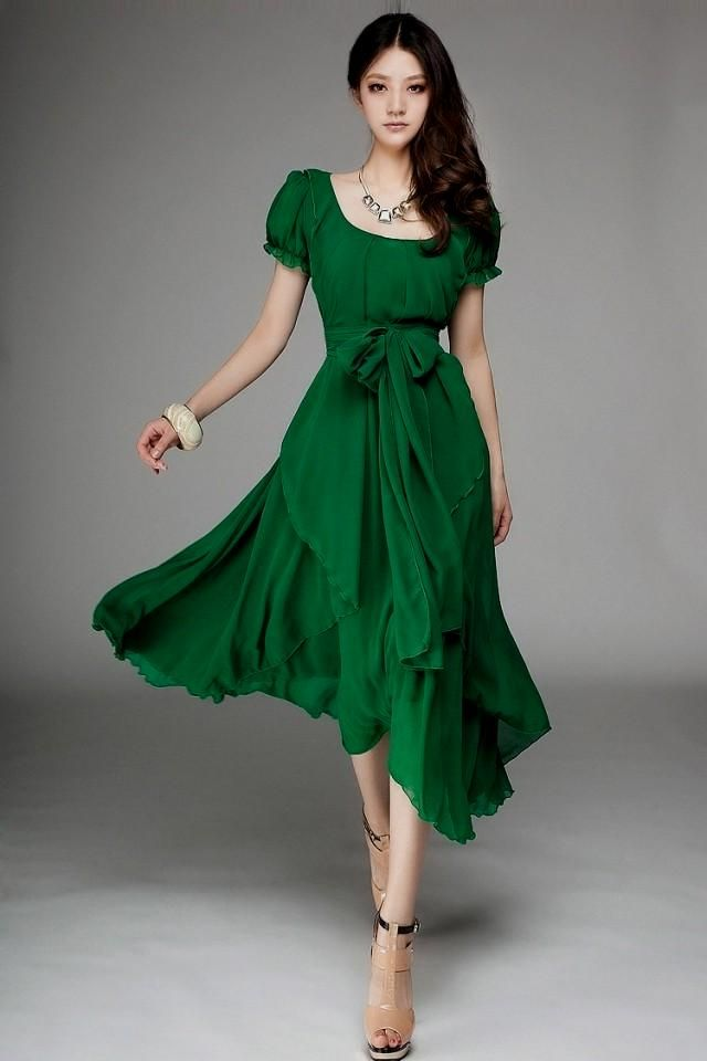 Mermaid prom dresses with one sleeve one shoulder long for Emerald green dress wedding guest