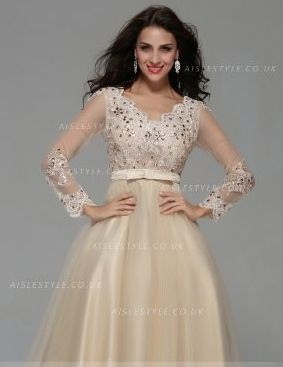 Sleeved prom dresses cheap