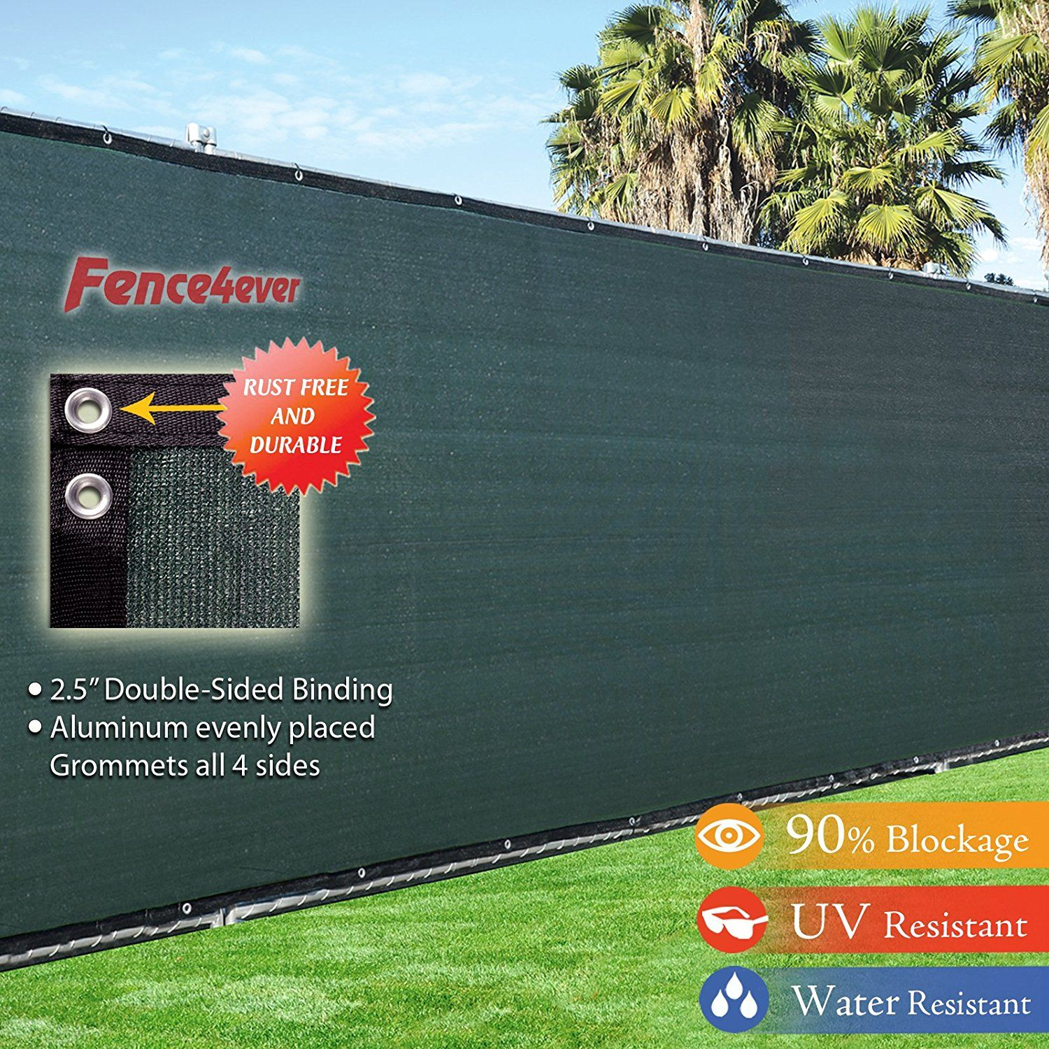 4 x 50 3rd gen olive dark green fence privacy screen windscreen