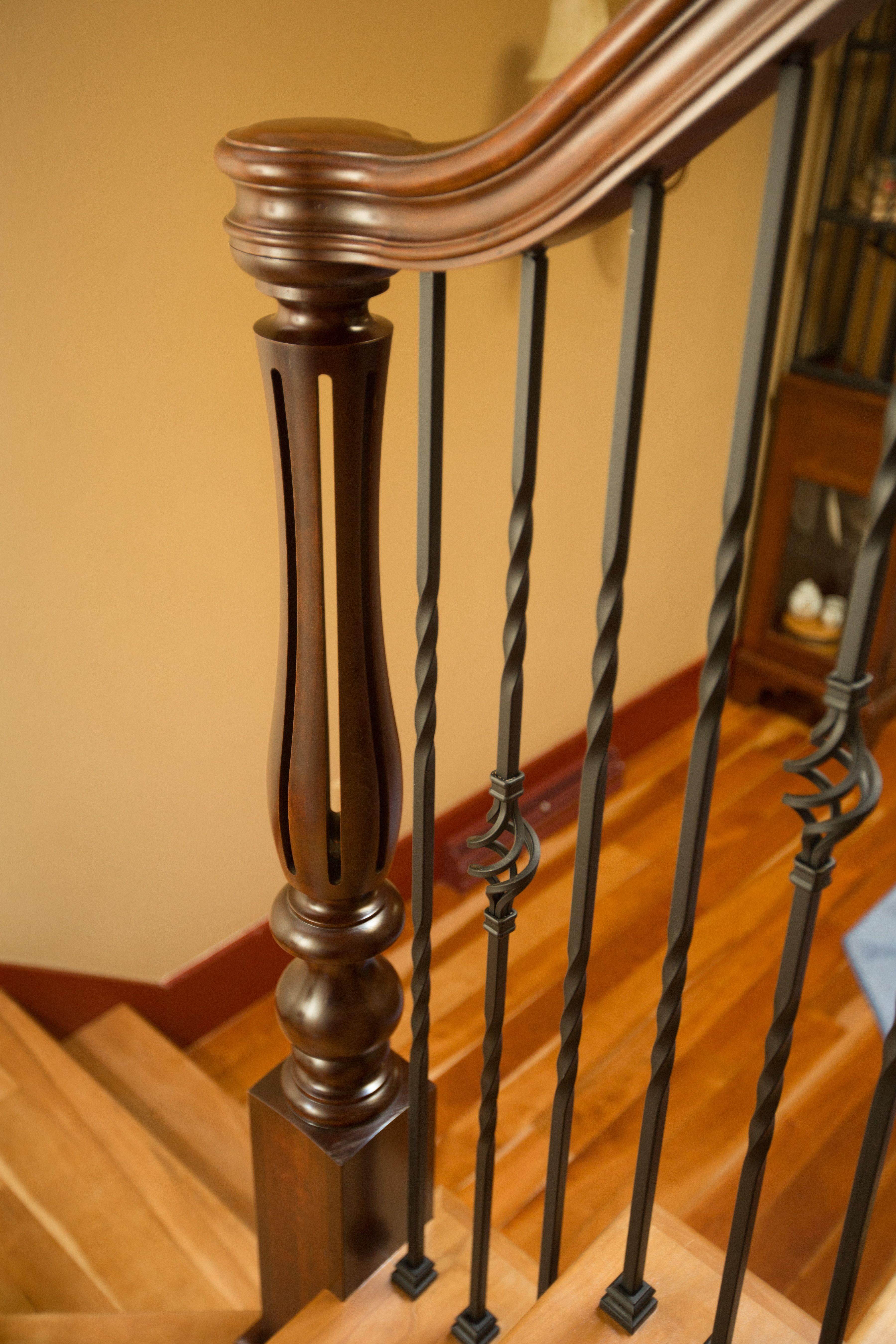 Turned Newel Posts Beautiful Newel Posts For Stairways | Turned Newel Post Designs | Type | Spiral | Round | Wood Baluster | Black