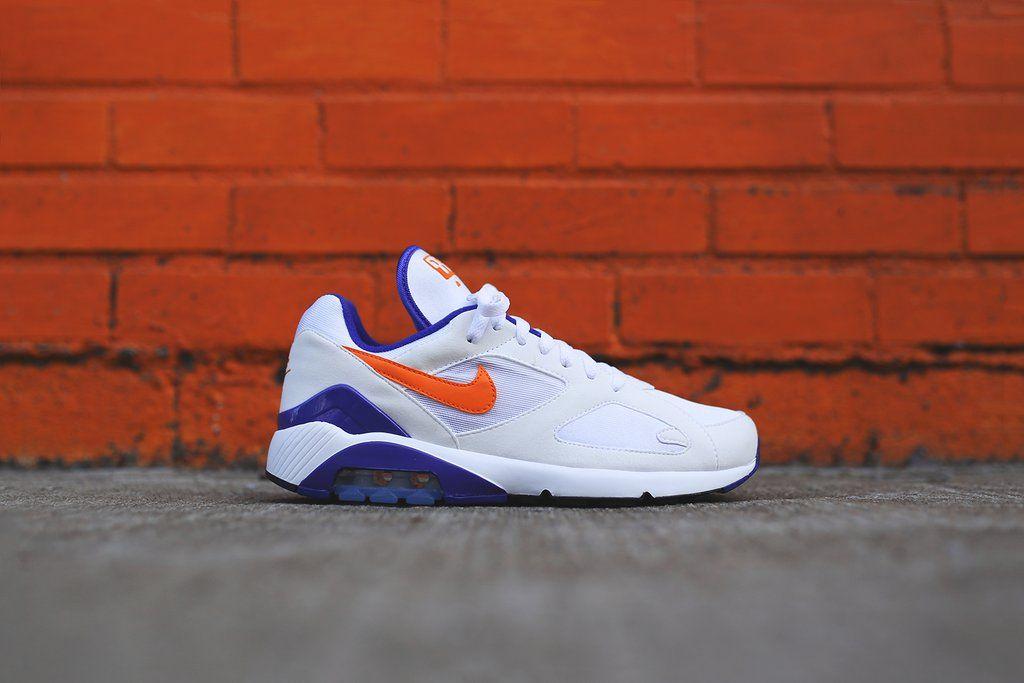 Nike Air Max 180 White Orange Purple 3 | Nike, Nike