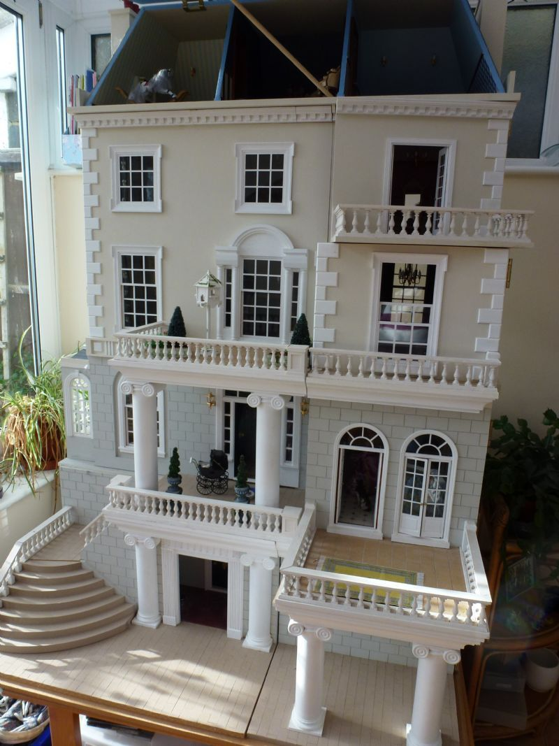 for sale beautifully extended dollhouse the dolls house exchange nursery pinterest. Black Bedroom Furniture Sets. Home Design Ideas