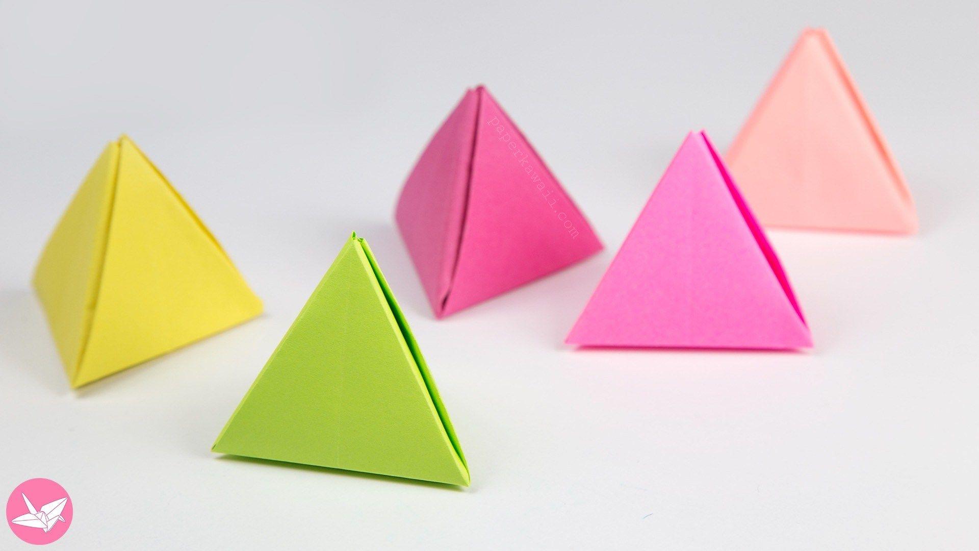 Origami Pyramid Gift Box, Pot or Decoration Tutorial   Origami ...