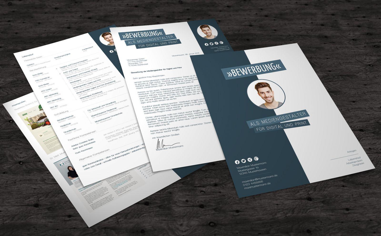 Professionelle Bewerbungsvorlagen Mit Deckblatt Anschreiben Und