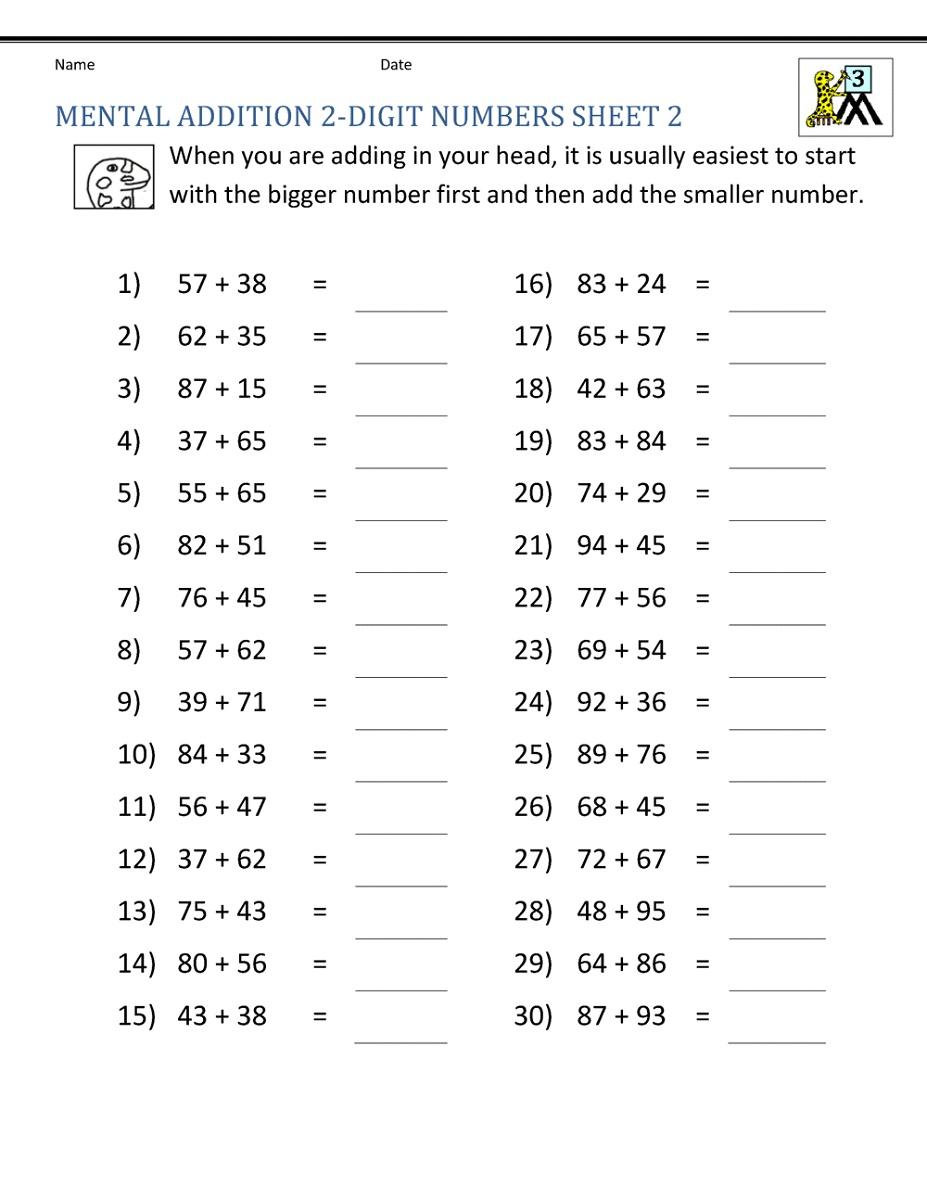 Math Worksheets For Grade 3 K5 Worksheets Math
