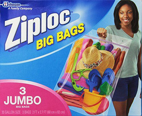 Ziploc Bag Double Zipper 3 Jumbo Bags Click On The Image For Additional Details It Is An Affiliate Link To