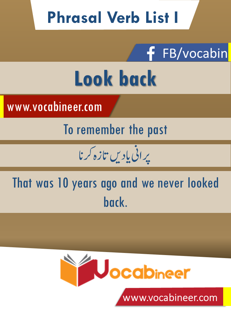 Look Back Phrasal Verb With Hindi And Urdu Meanings And Sentence Download Pdf Verbs List Verb English Vocabulary [ 1056 x 768 Pixel ]