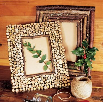 Nature Y Frames Made From Branches And Shells Trendy Home Decor Thrift Shop Finds Diy Frame