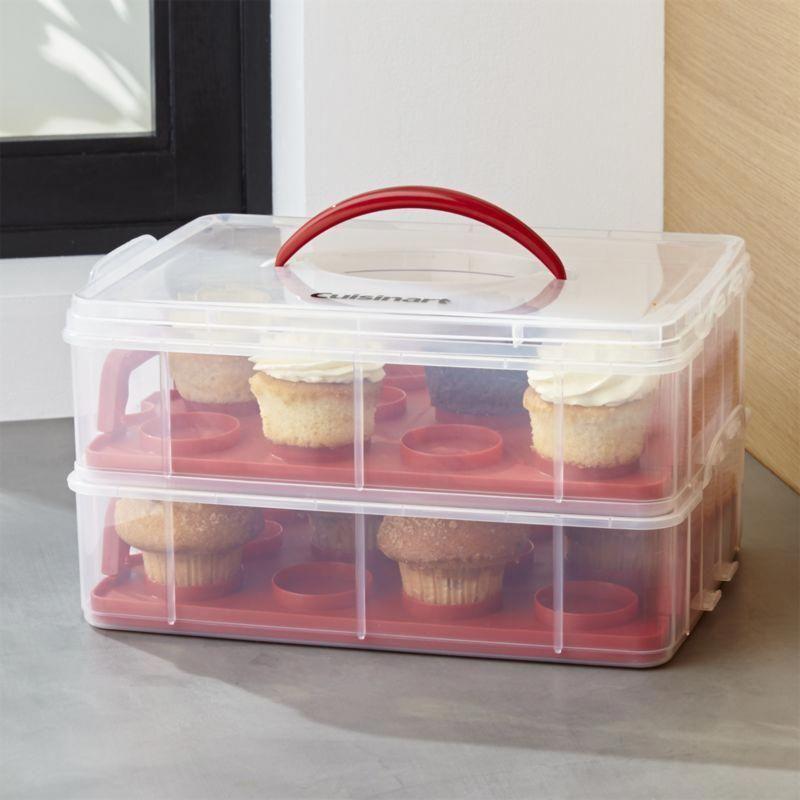 Cuisinart 2 Tier Cupcake Carrier In 2019 Cupcake Carrier Food