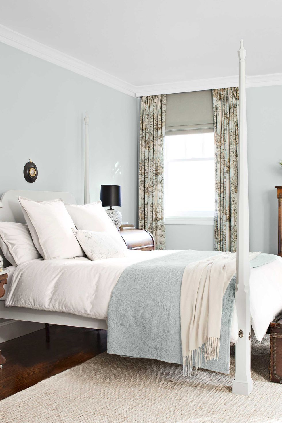 12 Gorgeous Bedrooms Common Questions Answered Warm Bedroom Colors Calming Bedroom Colors Pale Blue Bedrooms