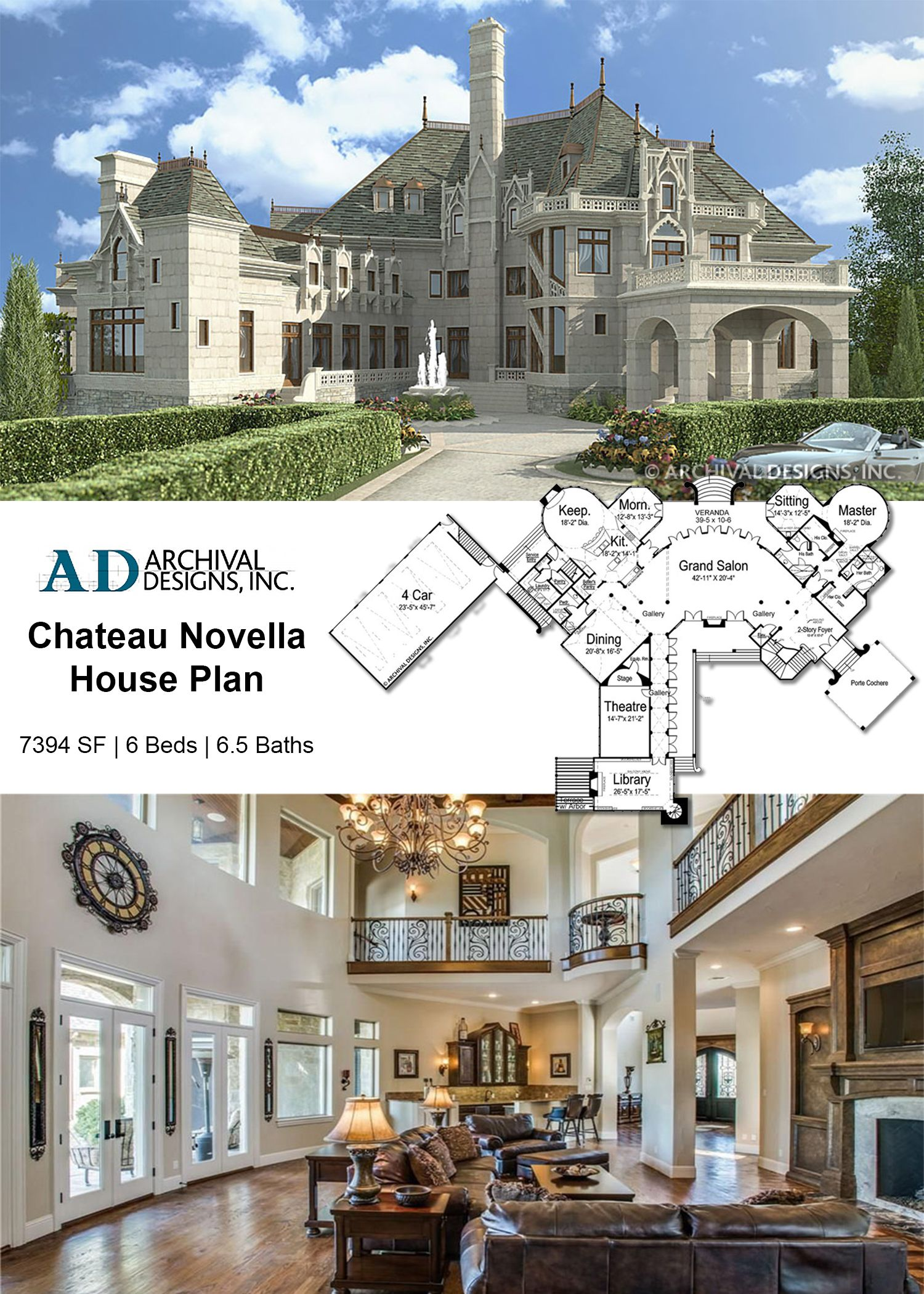 Chateau Novella House Plan Castle House Plans House Plans Mansion Castle House Modern