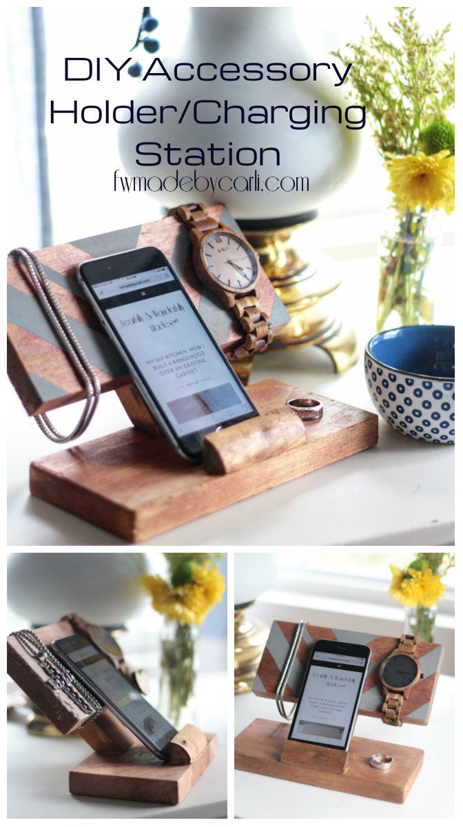 How to Make a DIY Accessory Holder Charging Station from Scrap Wood