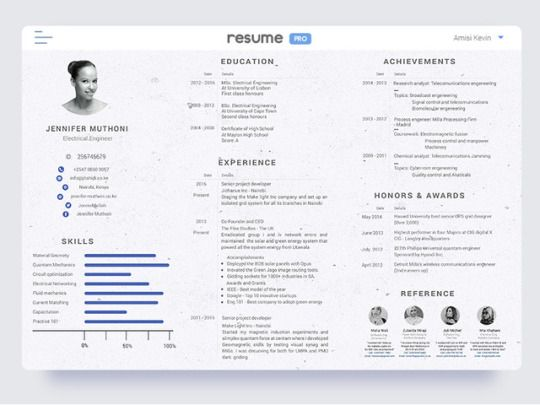 Landscape Resume by Amisi Kevin Web Design - inspired-web-designer - landscape resume