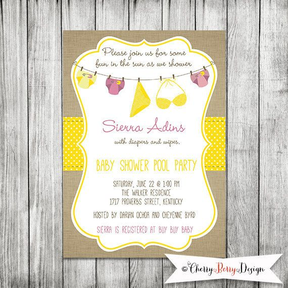 pool party diapers baby shower baby shower printable invitation 5 x7 jpg