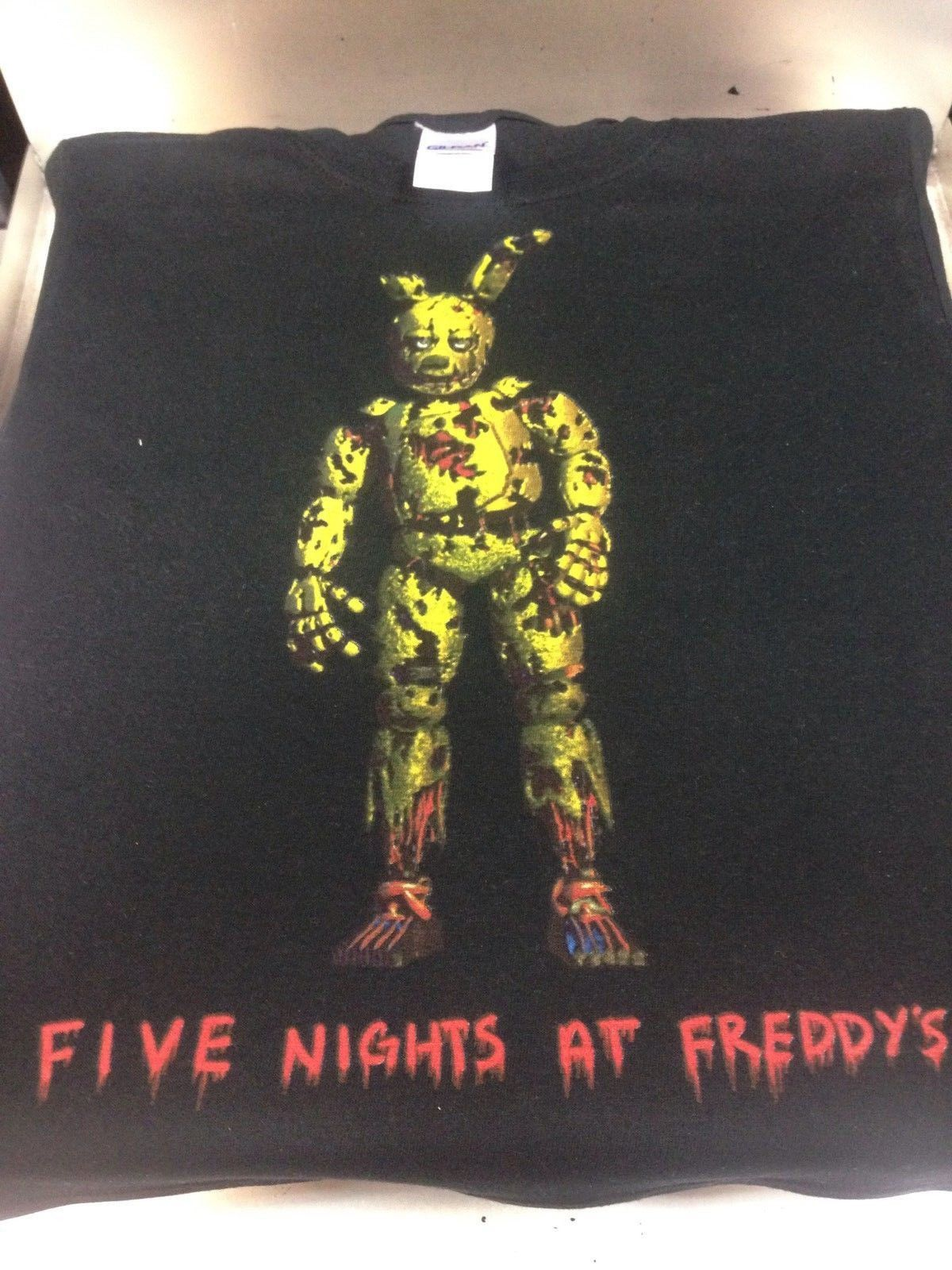 34106c532 Amazon.com: New Spring Trap Five Nights At Freddy's Fan Black Adult or Kids  T Shirt: Toys & Games