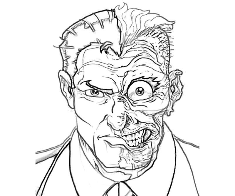 two face coloring pages - Google Search | Batman ART ...