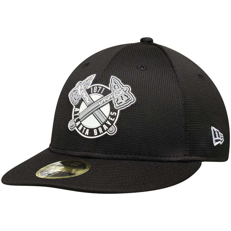 Men S Atlanta Braves New Era Black Team Clubhouse Low Profile 59fifty Fitted Hat Your Price 41 95 In 2020 Fitted Hats Atlanta Braves Hats For Men
