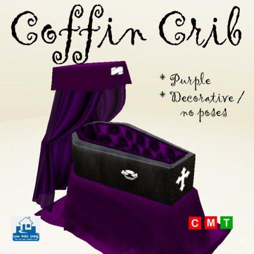Coffin Crib Red Vampire Gothic Baby Child Nursery Kids Children