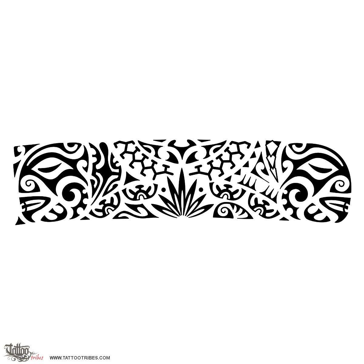 tribal bracelet tattoos maori wrist band tattoo image
