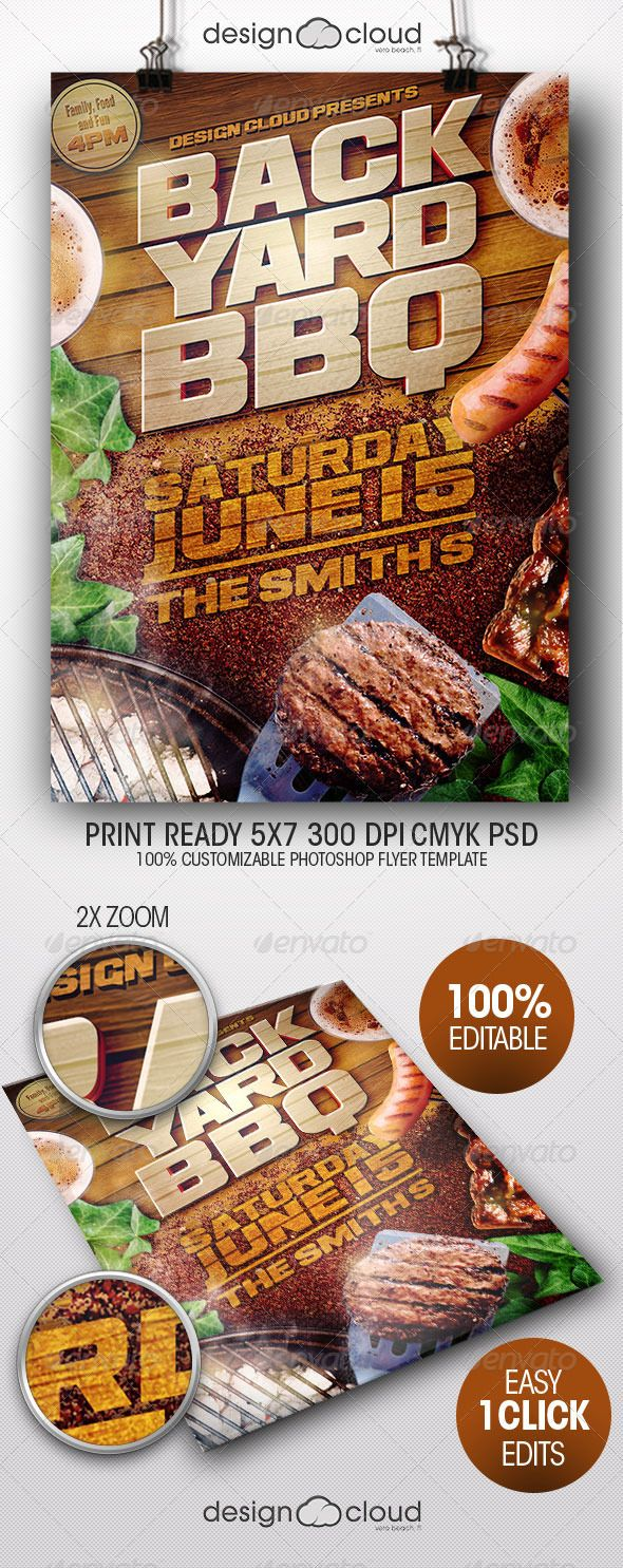 backyard bbq ii flyer template backyard bbq and flyer template