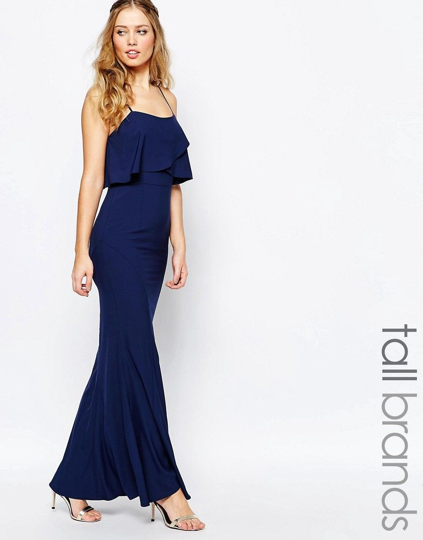 Jarlo tall overlay maxi dress amy bridesmaids pinterest
