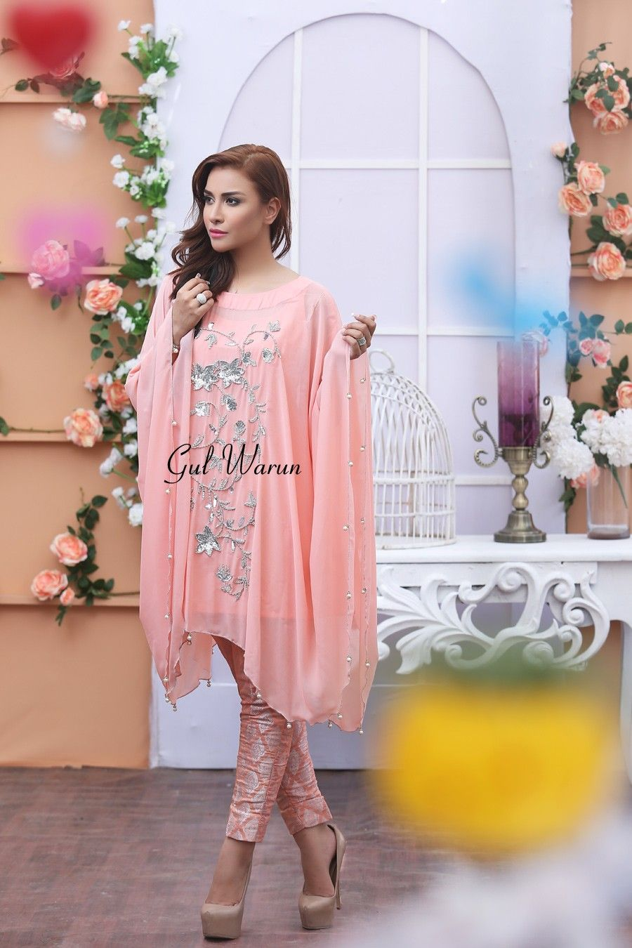 Latest Pakistani Cape Style Dresses 2017-2018 Designer Collection ...
