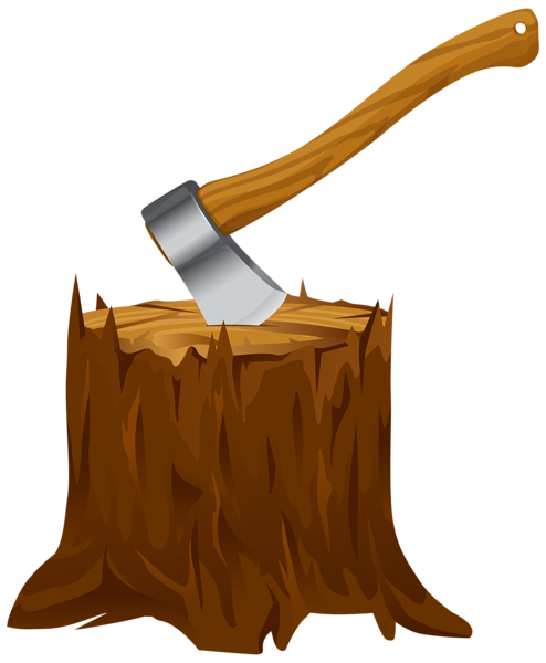 Tree Stump with Axe Clipart PNG Image | Home Decor ...