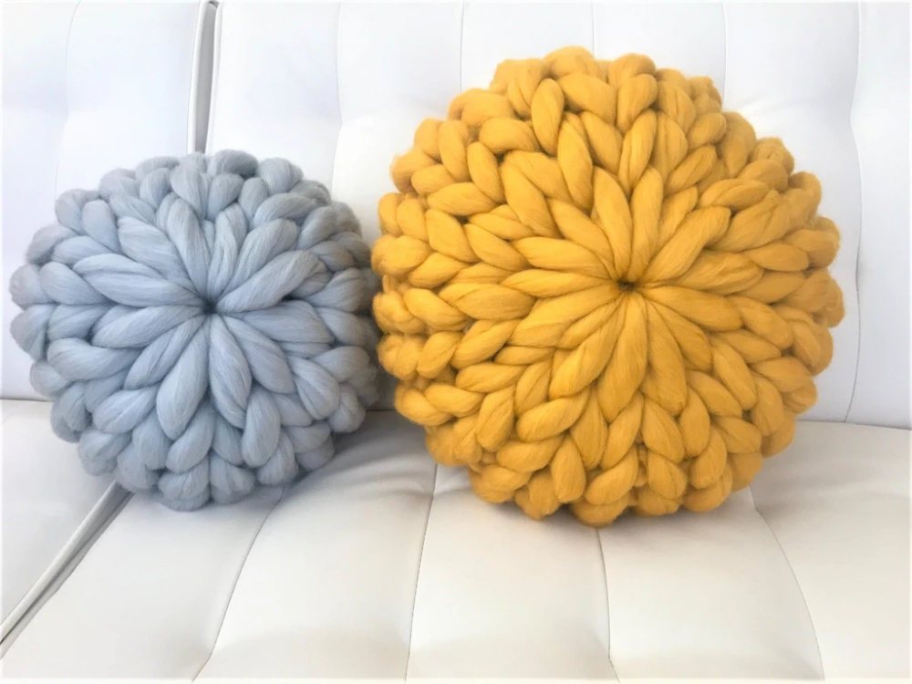 Round Pillow, Merino wool