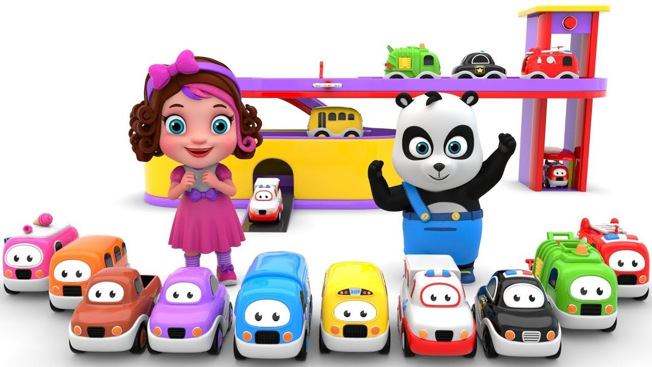 Pinky And Panda Play With Car Garage Toy Cars Toy Car Garage Toy Garage Garage Design
