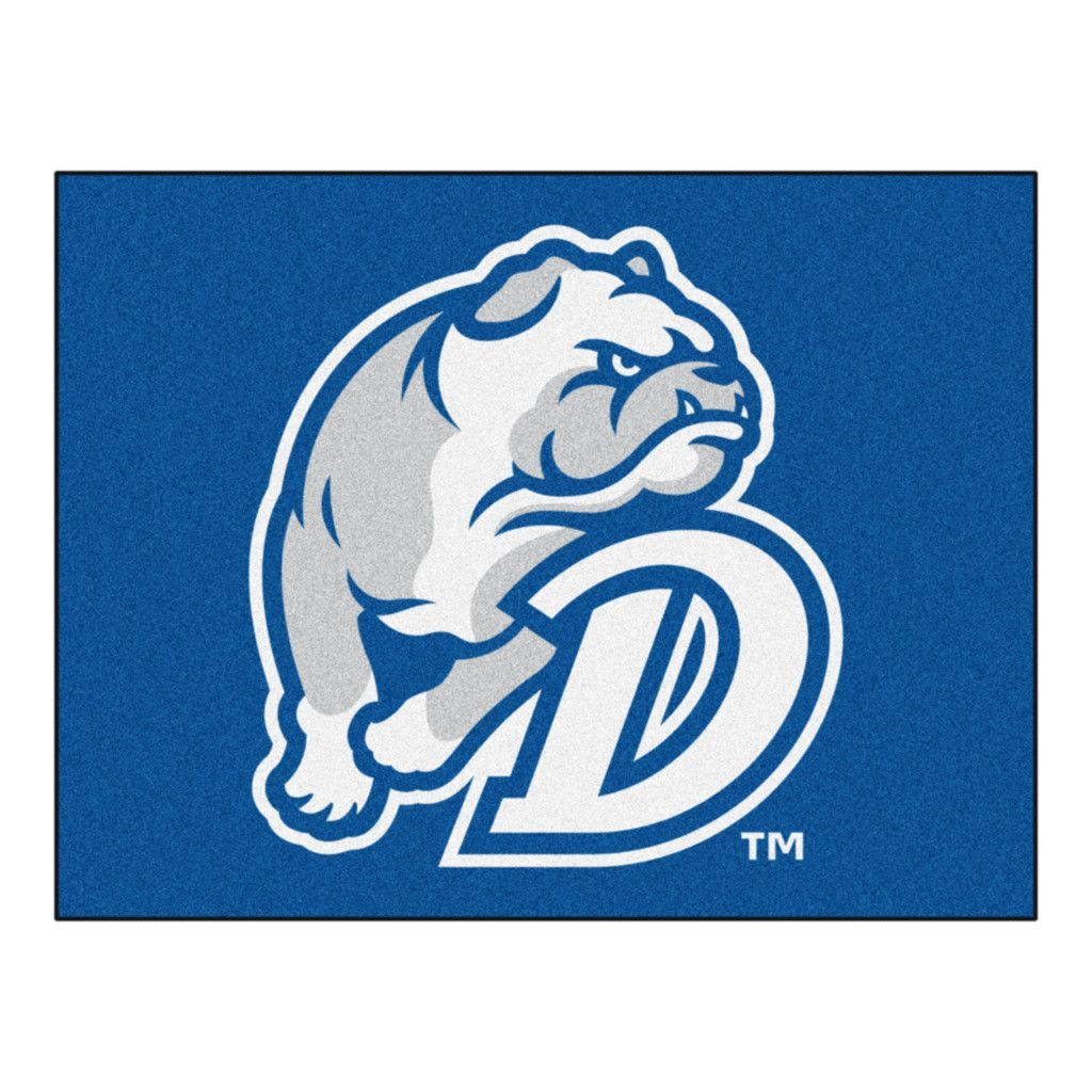 Drake Bulldogs Blue Tufted Area Rug