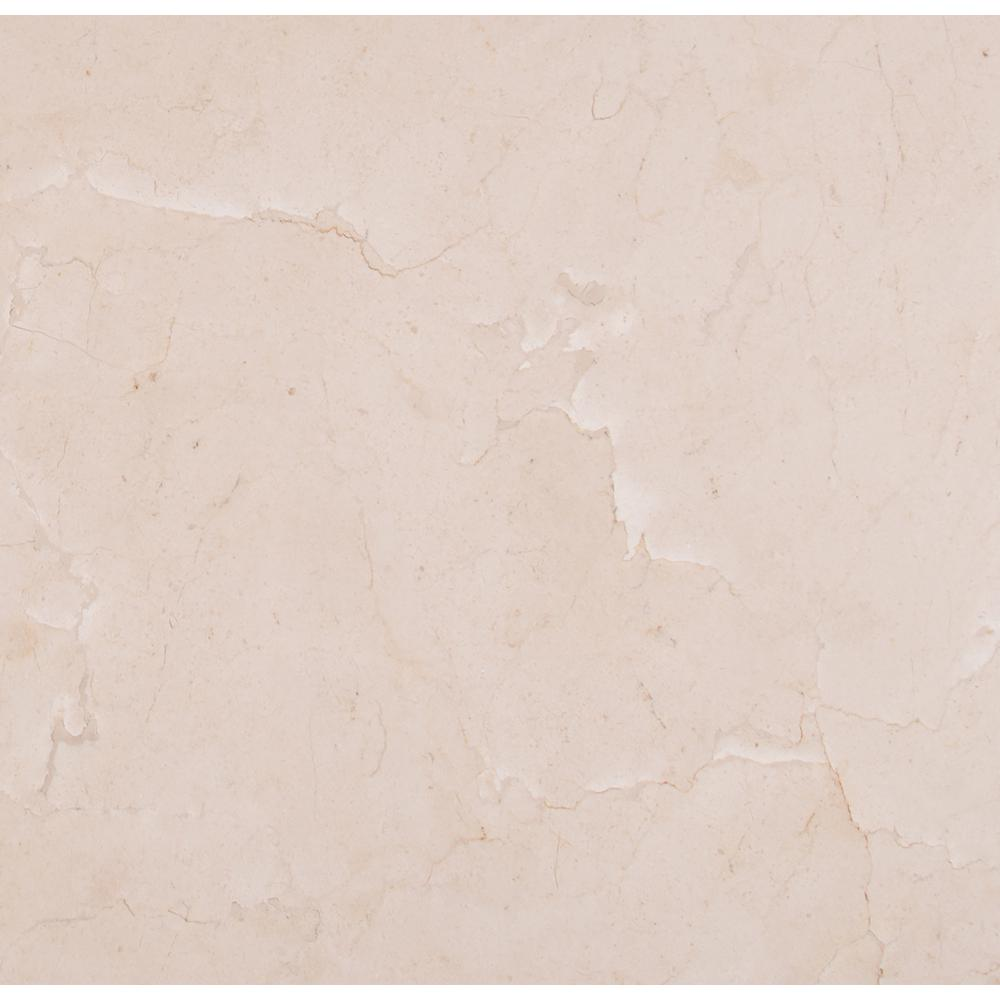 Ms International Crema Marfil 18 In X 18 In Polished Marble Floor And Wall Tile 9 Sq Ft Case Tcrmfl1 Polish Marble Floor Marble Tile Floor Marble Floor