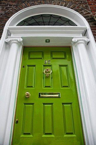 Ireland Dublin Georgian Doorway 01 Green Front Doors Green Door Front Door Colors