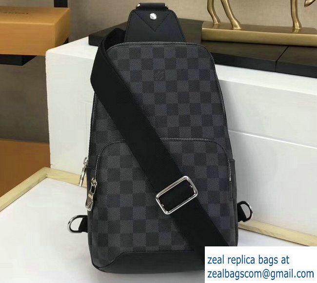 3fa9d63f1fc Louis Vuitton Damier Graphite Canvas Avenue Sling Bag N41719 ...