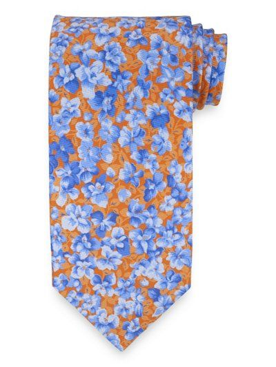 Botanical Printed Italian Silk Tie from Paul Fredrick