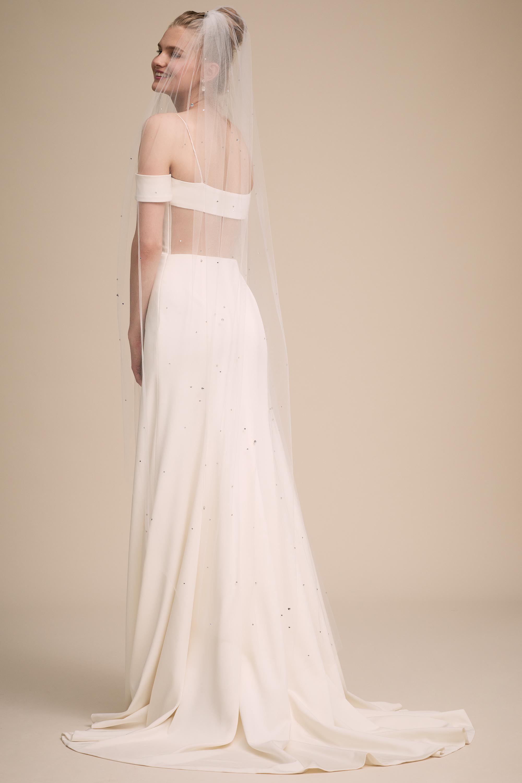 Verbenia Floor Length Veil Wedding Dress With Veil Floor Length