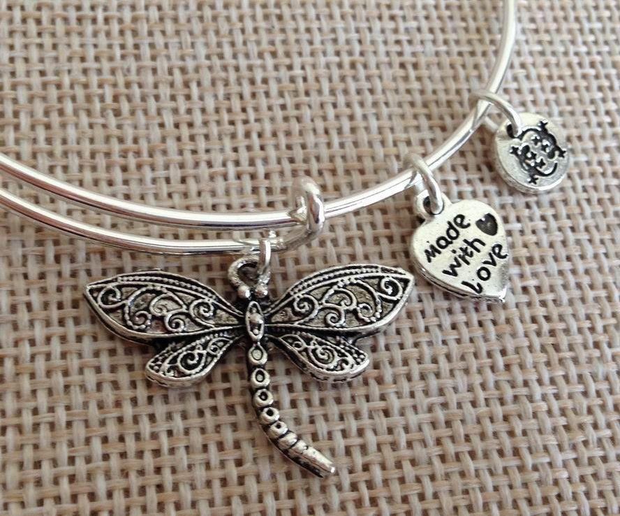 Dragonfly Bangle Bracelet Jewelry
