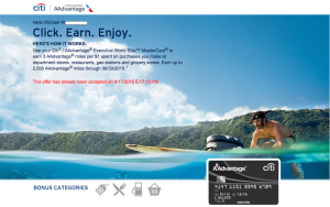 Earn 3 Miles Per Dollar With Citi Executive Card- Targeted